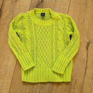 (2/$15) Baby GAP Lime Cable Knit Pullover